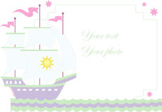 Vector illustration of sailboat Royalty Free Stock Photography
