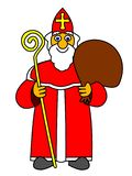 Vector illustration of Saint Nicolas, symbol of traditional holiday. Celebrated on 6th of December vector illustration