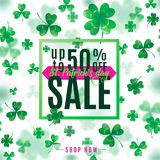 Vector illustration of saint Patrick day sale poster Royalty Free Stock Photography