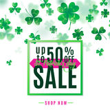 Vector illustration of saint Patrick day sale poster Stock Images