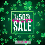 Vector illustration of saint Patrick day sale poster Royalty Free Stock Image