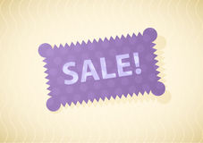 Vector illustration of sale label Royalty Free Stock Photos