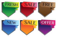 Vector illustration sale labels Royalty Free Stock Image