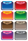 Vector illustration sale labels Stock Photos