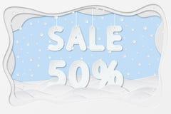 Sale 50 percent text Stock Image