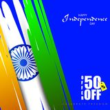 Sale Promotion and Advertisement for 15th August Happy Independence Day of India. Vector illustration of Sale Promotion and Advertisement for 15th August Happy vector illustration