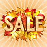 Vector illustration of Sale word Stock Photography