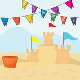 Vector illustration of an sandcastle Royalty Free Stock Image