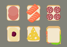 Vector illustration of sandwiches. Royalty Free Stock Photos