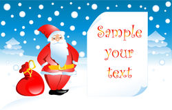 Vector illustration Santa Claus Royalty Free Stock Photo