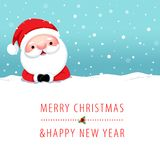 Santa Claus Cartoon character for Christmas cards and banners Stock Photography