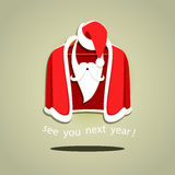 Vector illustration of Santa Claus clothes on hanger Stock Photography