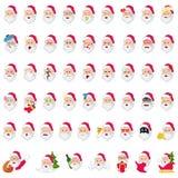 Santa Claus Emoji Icons Illustration. A vector illustration of Santa Claus Emoji and Emoticons Icons Stock Image
