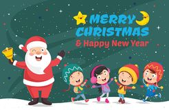 Vector Illustration Of Santa Claus. Eps 10 royalty free illustration