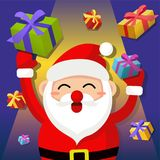 Vector illustration. Santa claus with gifts Royalty Free Stock Photography