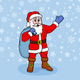 Vector illustration of Santa Claus with gifts Stock Photo