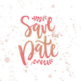 Vector illustration of save the date text  Royalty Free Stock Photography