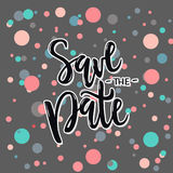 Vector illustration of save the date text with circles. Vector illustration of save the date text with grey background and circles for wedding. Save the date Vector Illustration