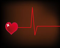 Vector illustration - save your heart Stock Images