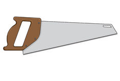 Vector illustration of a saw Stock Image