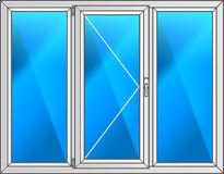 Vector illustration. Scheme plastic window. Royalty Free Stock Images