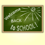 Vector illustration of school blackboard with Back Royalty Free Stock Photo