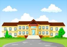 Vector illustration of school building cartoon Royalty Free Stock Image