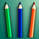 Vector illustration of school color pencils Stock Photo