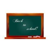 Vector illustration school dark green chalkboard Royalty Free Stock Photography
