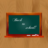 Vector illustration school dark green chalkboard Stock Photos