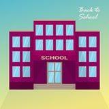 Vector illustration School eps10 Pink School Back to school royalty free illustration