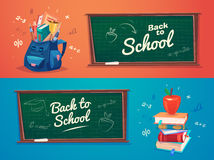 Vector illustration of school objects Stock Photography