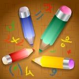 Vector illustration of school pencils Royalty Free Stock Photo