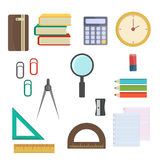 Vector illustration school supplies. Royalty Free Stock Images