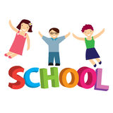 Vector illustration schoolchildren Stock Photography