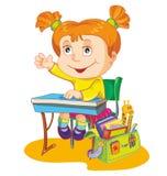Vector illustration-schoolgirl Royalty Free Stock Image
