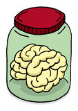 Brain in a jar Royalty Free Stock Photo