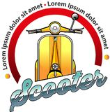 Scooter community symbol. Vector illustration, Scooter community symbol for vespa or scooter lover Royalty Free Stock Images
