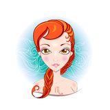 Vector illustration of Scorpio zodiac sign. Royalty Free Stock Photos
