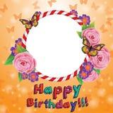 Vector illustration scrapbooking congratulation romantic card Stock Image