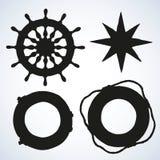 Vector illustration of sea ship supplies Stock Photos