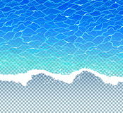 Vector illustration with sea surf Royalty Free Stock Images