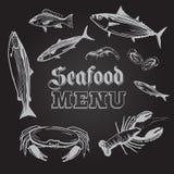 Seafood Menu Illustration Royalty Free Stock Photos