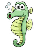 Cartoon seahorse Stock Photo