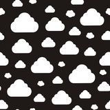 Abstract pattern with clouds. Vector illustration of seamless abstract pattern with clouds Stock Illustration
