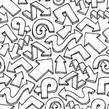 Seamless arrow vector pattern / Hand drawn background Royalty Free Stock Photo