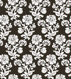 Vector illustration of seamless black and white flower pattern Royalty Free Stock Images