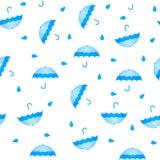 Summer seamless umbrella pattern. Cartoon style royalty free illustration