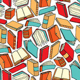Seamless book pattern / Background wallpaper Royalty Free Stock Image