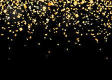 Vector illustration of seamless border background with gold carnival confetti Royalty Free Stock Photos